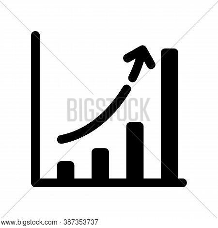 Growing Chart Outline Icon. The Item From Set Dedicated Marketing, As Well As Related Goods And Serv