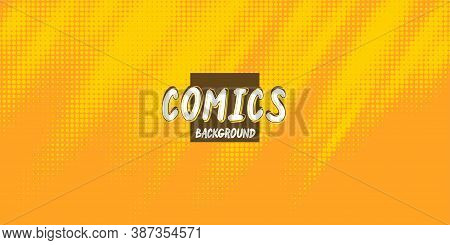Retro Background With A Comics Style. Monochrome Printing Raster, Abstract Vector Halftone Backgroun