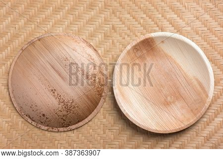 Betel Palm Leaf Plate (biodegradable Plate, Compostable Plate Or Eco Friendly Disposable Plate) On W