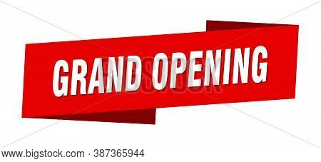 Grand Opening Banner Template. Grand Opening Ribbon Label Sign