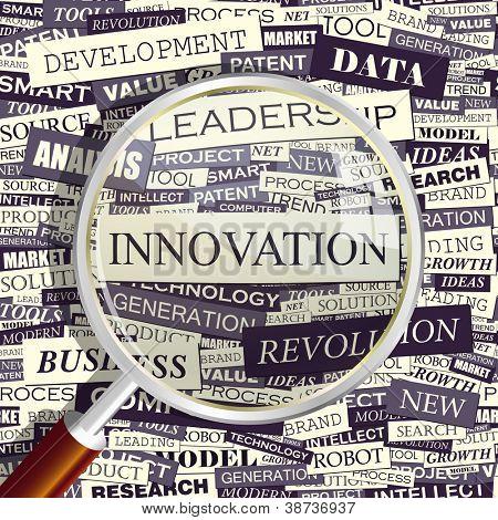 Innovation. Word collage. Vector illustration.