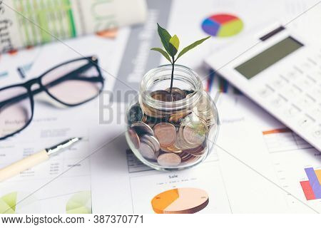 Saving And Investment With Plant Growth Statistics Accounting Info Which Including Of Many Economic