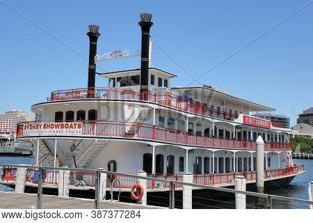 Sydney, Australia - February 03, 2019: This Is The Sydney's Famous Authentic Paddlewheelers. Over 5