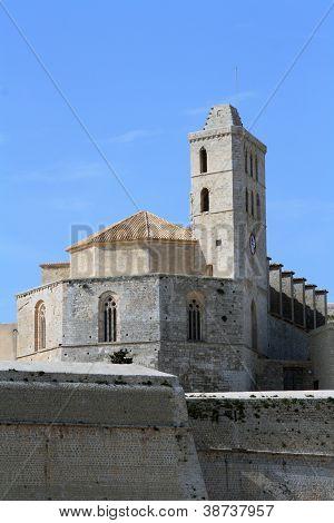 Catedral De Santa Maria In Ibiza, Spain