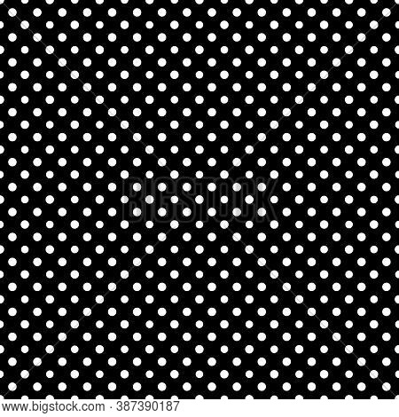 Circles Seamless Pattern. Dots Ornament. Circle Figures Backdrop. Polka Dot Motif. Rounds Background