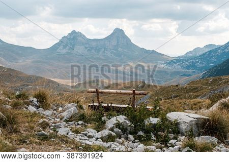 The Mountain Landscape In The National Park Durmitor, Montenegro.