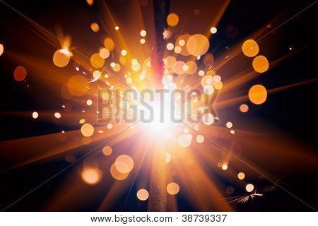 festive sparks background poster