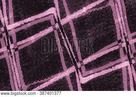Nude Bohemian Style. Ink Brush Strokes. Bohemian Design. Linear Geometric Wallpaper. Hand Drawn Line