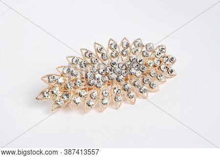 Jewelry Brooch - Bijouterie Luxury Accessory On White Background