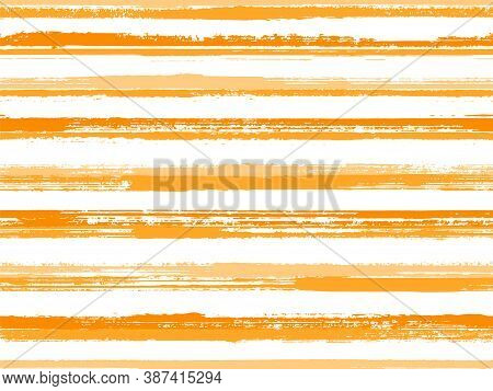 Grunge Stripes Seamless Vector Background Pattern. Wrapping Paper Lines Pattern. Dry Paintbrush Stri