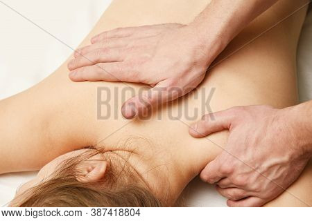 Professional Relaxation Massaging. Healthy Medical Relax Body Care.