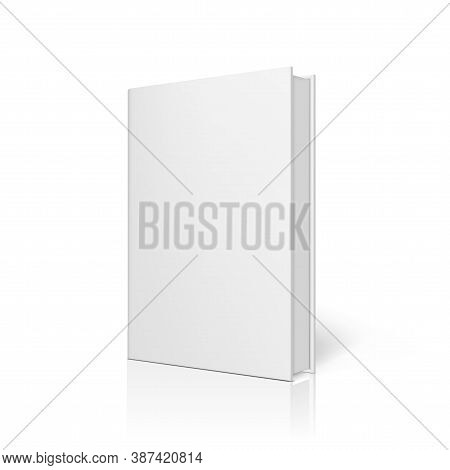 Blank Book With Clear Cover Standing On White