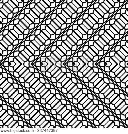 Design Seamless Zigzag Pattern. Abstract Monochrome Stripy Background. Vector Art