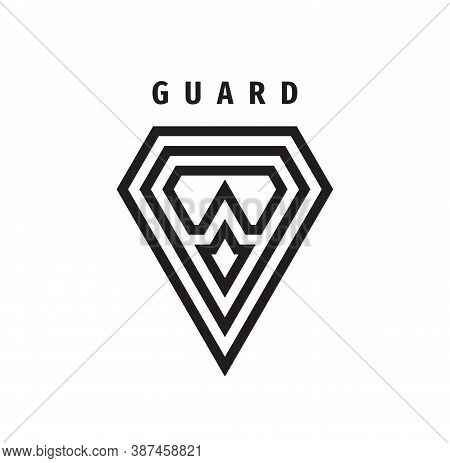 Guard Shield Business Concept Logo. Protection Security Icon Logo Sign. Vector Illustration.