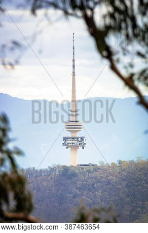 An image of the Canberra radio tower