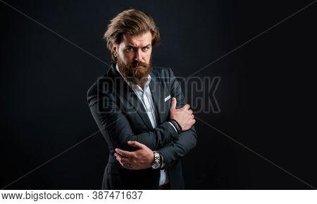 Representation Modern Successful Man Business Career, Barber Salon Concept