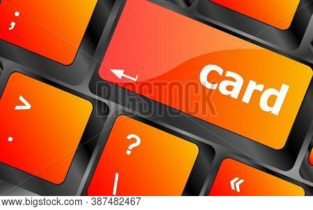 Card Word On Keyboard Key, Notebook Computer Button