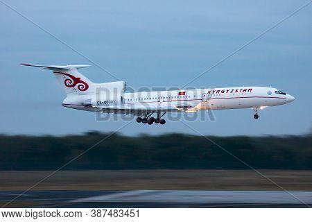 Budapest / Hungary - September 28, 2020: Kyrgyzstan Government Tupolev Tu-154m Ex-00001 Passenger Pl