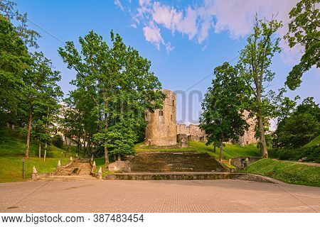 Ruins Of An Old Castle In Cesis, Latvia