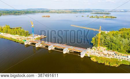 Vestonice Reservoir is a reservoir on the Thaya River in the South Moravia. It is 1668 ha in area. The reservoir was built on the place of Musov village.
