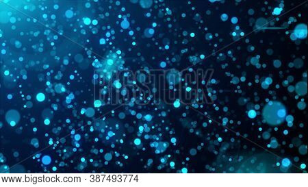 3d Rendering Of Abstract Background With Blink Particles. Computer Generated Glare Rain With Glitter