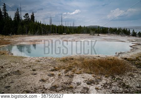 Abyss Pool, A Thermal Feature In The West Thumb Geyser Basin Of Yellowstone National Park