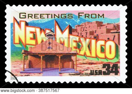 United States Of America - Circa 2002: A Postage Stamp Printed In Usa Showing An Image Of The New Me