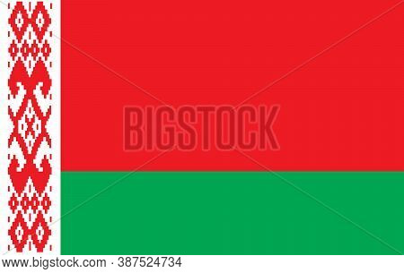 Flag Of Belarus. Vector. Accurate Dimensions, Elements Proportions And Colors. Original And Simple B