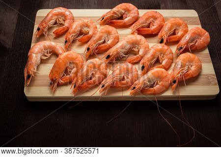 Shrimp On A Chopping Board Shrimp On A Chopping Board
