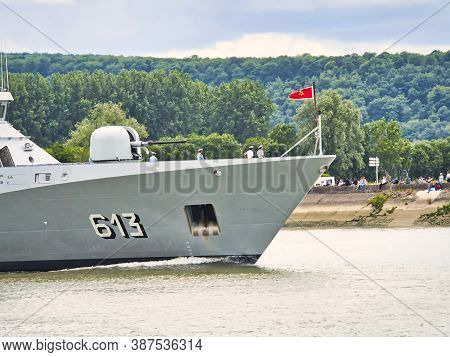 Rouen, France June Circa, 2019. Part Of The Tarik Ben Ziyad Frigate Boat From Morocco, At Armada Exh