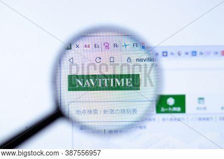 New York, Usa - 29 September 2020: Navitime.co.jp Navitime Company Website With Logo Close Up, Illus