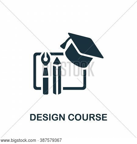 Design Course Icon. Simple Element From Online Course Collection. Creative Design Course Icon For We