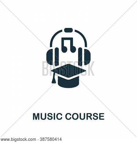 Music Course Icon. Simple Element From Online Course Collection. Creative Music Course Icon For Web