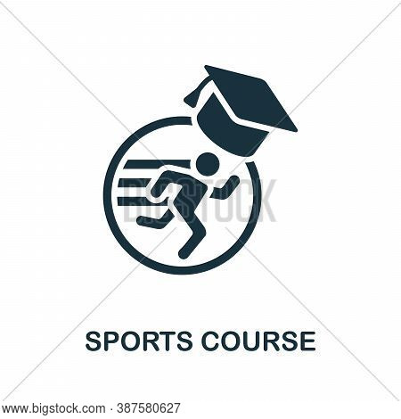 Sports Course Icon. Simple Element From Online Course Collection. Creative Sports Course Icon For We
