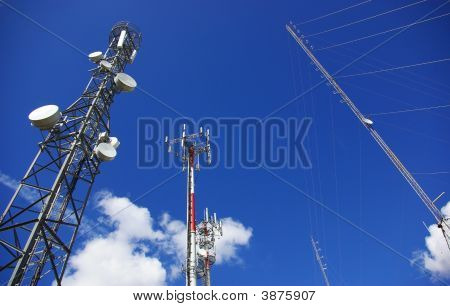 Towers Of Telecommunications.