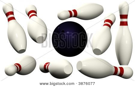 Bowling Pins - Isolated