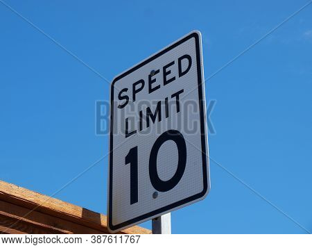A Speed Limit Sign In An Alley Is Not Unusual, Generally, But This One Was Higher Than The Privacy F