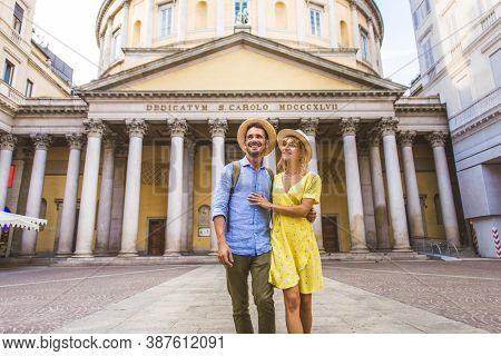 Happy Couple Visiting The City Centre