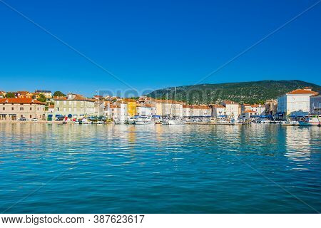 Waterfront In The Town Of Cres, Waterfront, Island Of Cres, Kvarner, Croatia