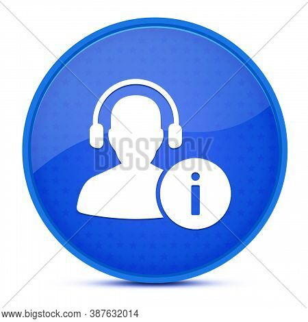 Help Desk Aesthetic Glossy Blue Round Button Abstract Illustration
