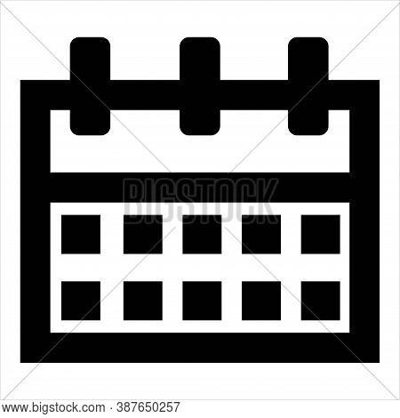 Calendar Icon Illustration. Monthly, Weekly Business Calendar Symbol. Event Organizer, Planner, Meet
