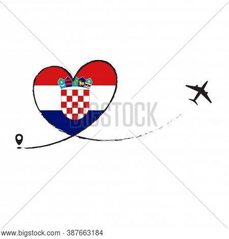 Flag Of Croatia Love Romantic Travel Plane Airplane Airplane Airplane Flight Fly Jet Airline Line Ve