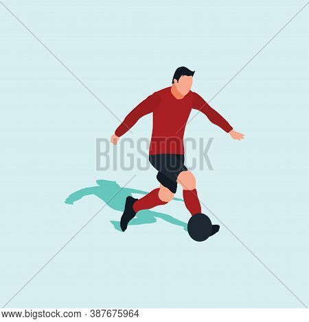 Right Footed Casual Dribbling - Shot, Dribble, Celebration And Move In Soccer