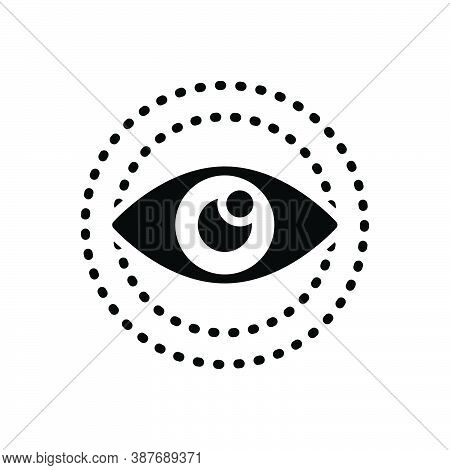 Black Solid Icon For Look Vision See View Sight Watch Eyesight Eyeball Glimmers Optical