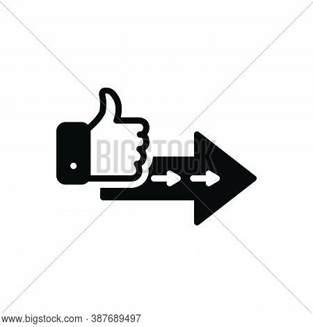 Black Solid Icon For Proceed Go-ahead Grow Increase Step-forward Continue Go-on Thumb