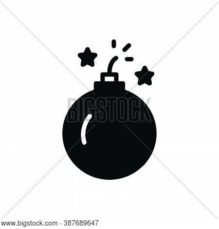 Black Solid Icon For Bomb Thill Blast Demolish Explosive Dynamite Destruction Explosion Risk Weapon