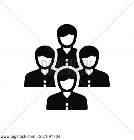 Black Solid Icon For Folk Rabble Crowd Mob Multitude Concourse Group Community Public Mankind