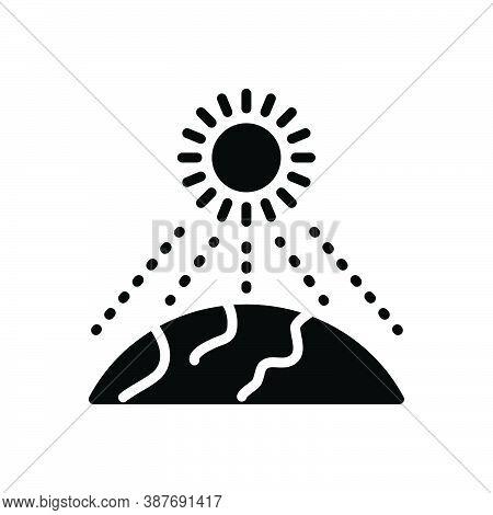Black Solid Icon For Intensity Severity Rapidity Light-intensity Magnitude Sun Heat Sun-light World