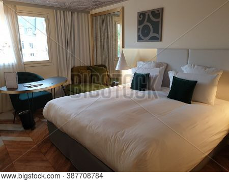 Versailles, France - August 27, 2019 : Hotel Le Louis Versailles Chateau, A Four Stars Hotel Right N