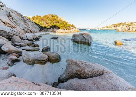 Cala Napoletana, Wonderful Bay In Caprera Island, La Maddalena Archipelago National Park, Northern S